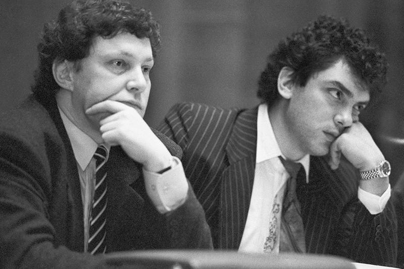 Григорий Явлинский на встрече экономистов России, 1992 год