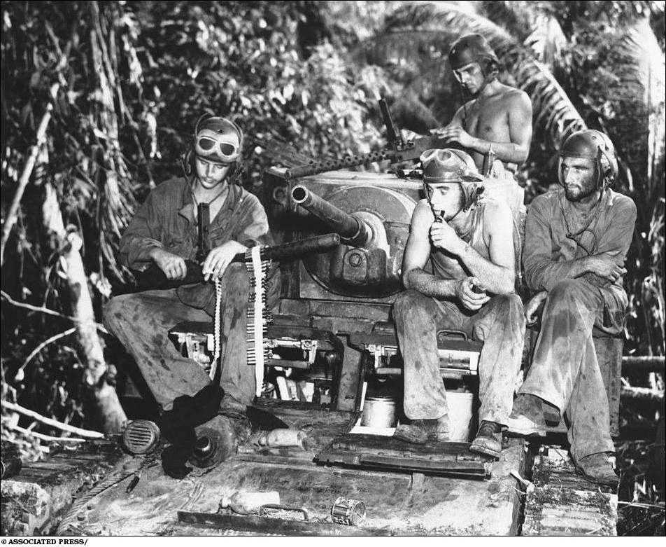 WWII US Troops Solomon Islands 1943