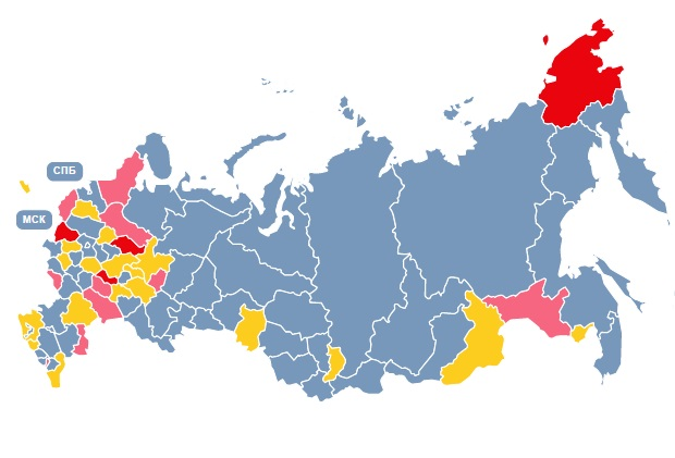 Регионы-банкроты, кто следующий? (интерактивная карта)