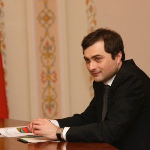 B99N6K Vladislav Surkov Deputy Chief of Staff of Russia s Presidential Executive Office holds conference with leaders of the United