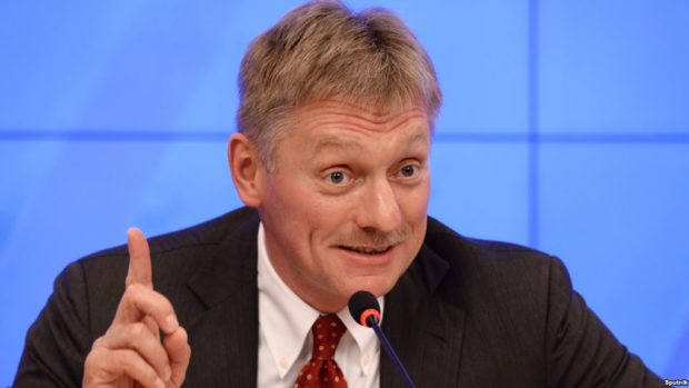 2726188 10/26/2015 Dmitry Peskov, Media Council Chairman, Russian Geographical Society, seen at the Rossiya Segodnya press center, attending a press conference on staging a Russian geography quiz. Alexey Filippov/Sputnik