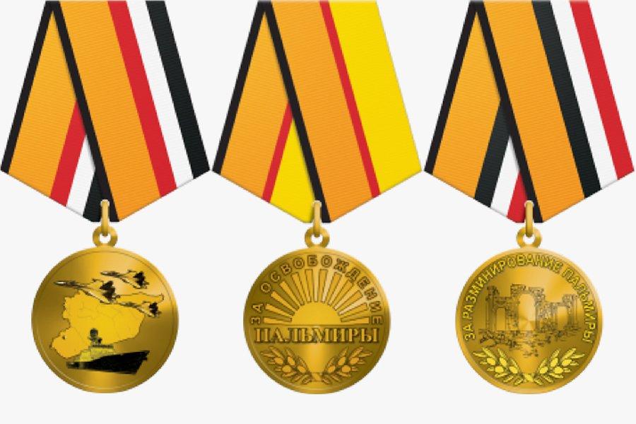 Минобороны назвало ошибкой заказ 20 тысяч медалей за участие в войне в Сирии
