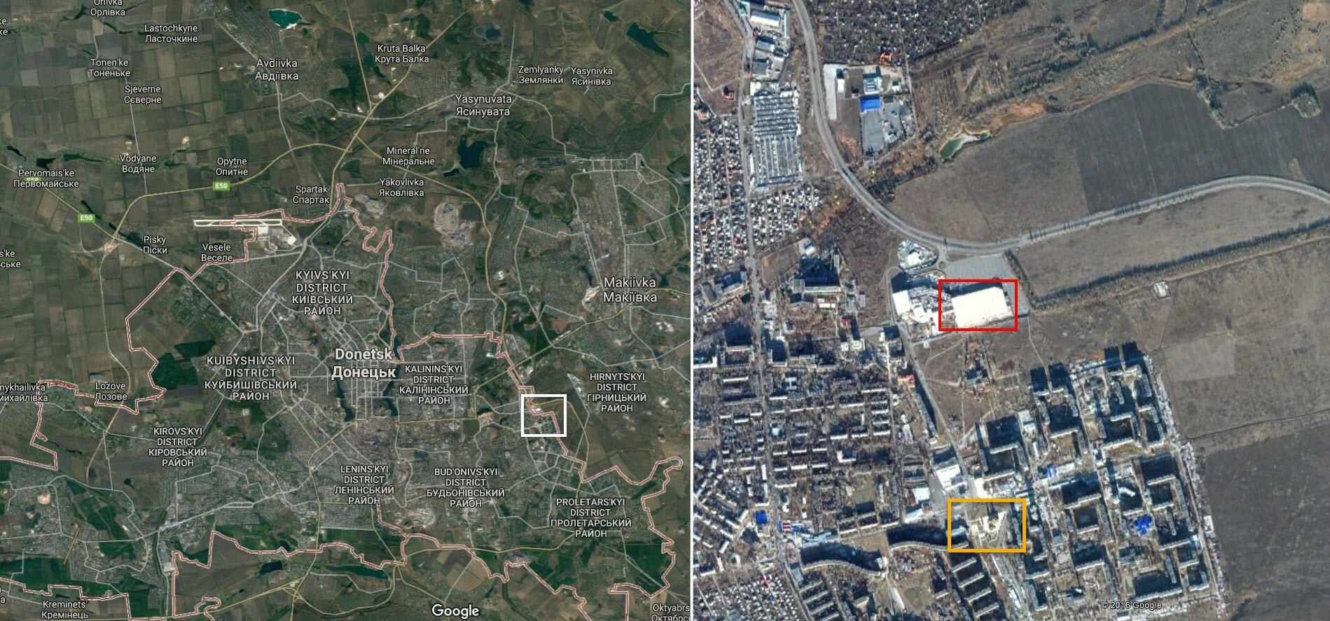 Сепаратисты применяют «Грады» в жилых кварталах Донецка— Bellingcat