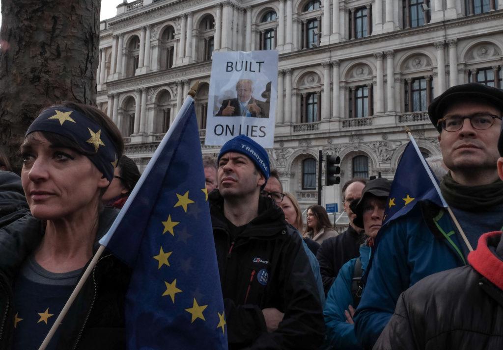 Митинг сторонников Евросоюза в Лондоне. Февраль 2017 года