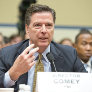 July 7, 2016 - Washington, District of Columbia, United States of America - FBI Director James Comey testifies before the United States House Committee on Oversight and Government Reform following his announcement on Tuesday that he would recommend not to prosecute former US Secretary of State Hillary Clinton for maintaining a private server on Capitol Hill in Washington, DC on Thursday, July 7, 2016..Credit: Ron Sachs / CNP. (Credit Image: Global Look Press via ZUMA Press)