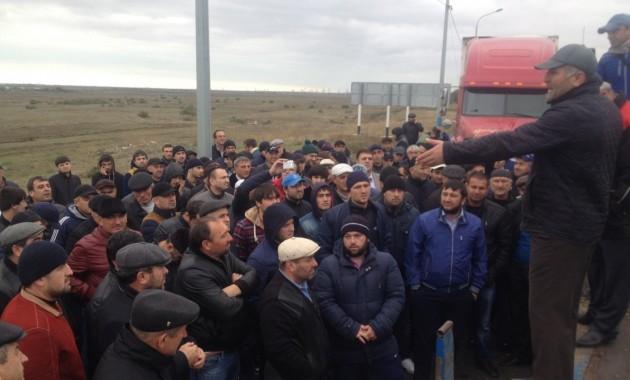 Забастовка дальнобойщиков Дагестана