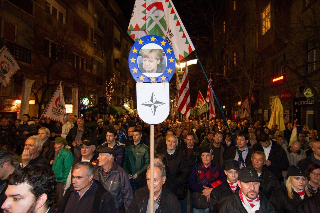 "Митинг сторонников партии ""Йоббик"" против иммиграции. Будапешт, ноябрь 2015 года"