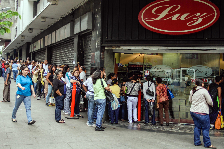 Очередь за продуктами в Каракасе