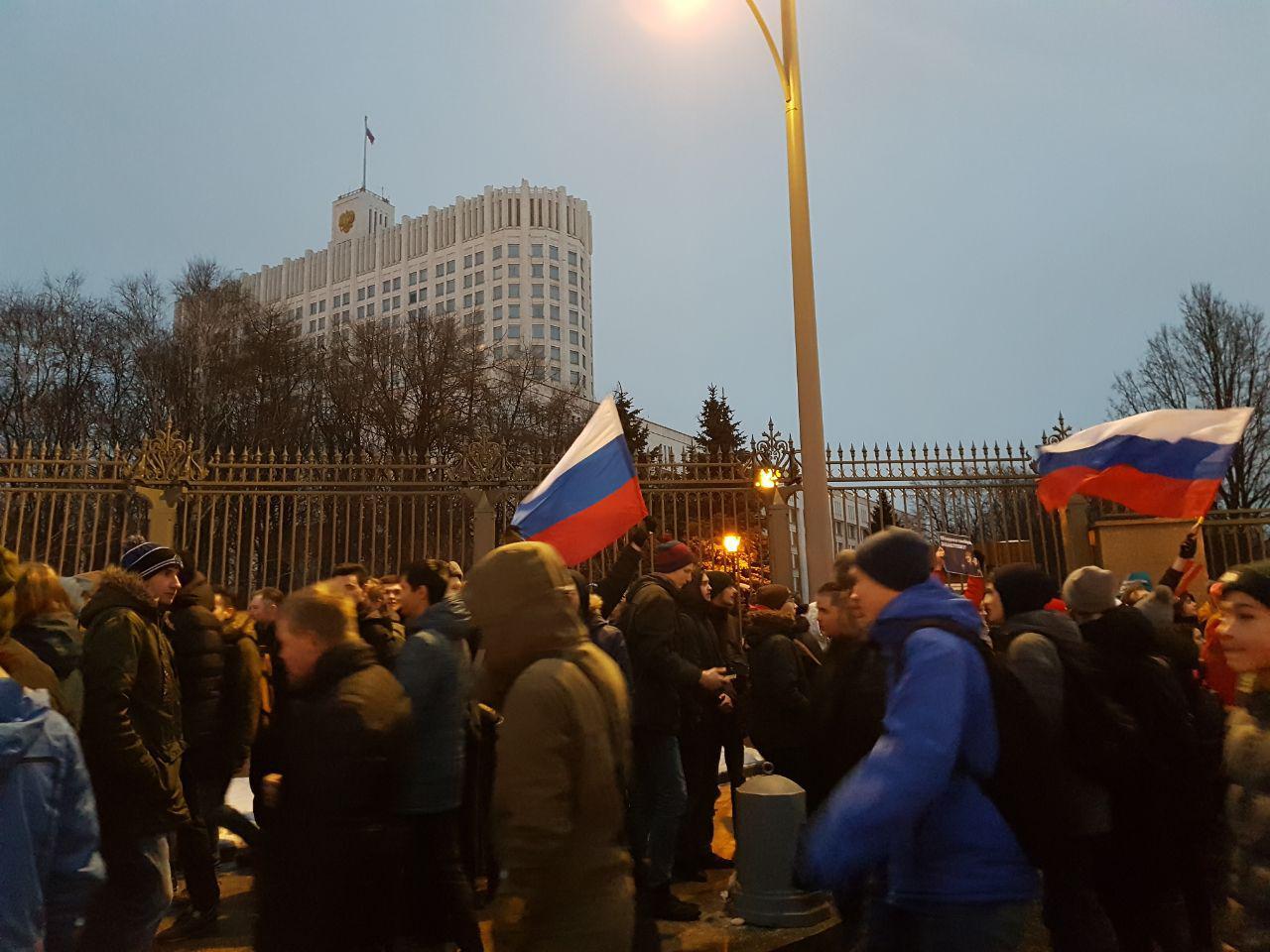 В Москве на акцию в поддержку забастовки избирателей вышли тысячи людей
