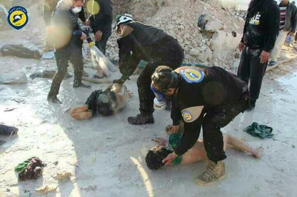 В Минобороны России фотографии с жертвами химатаки в Сирии назвали «фальшивкой»