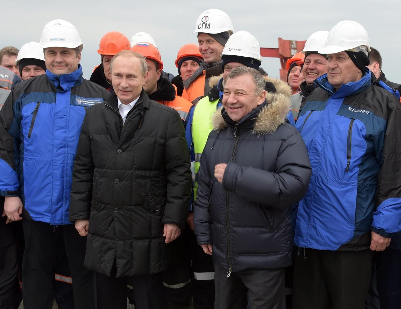 Путин и Ротенберг в Крыму