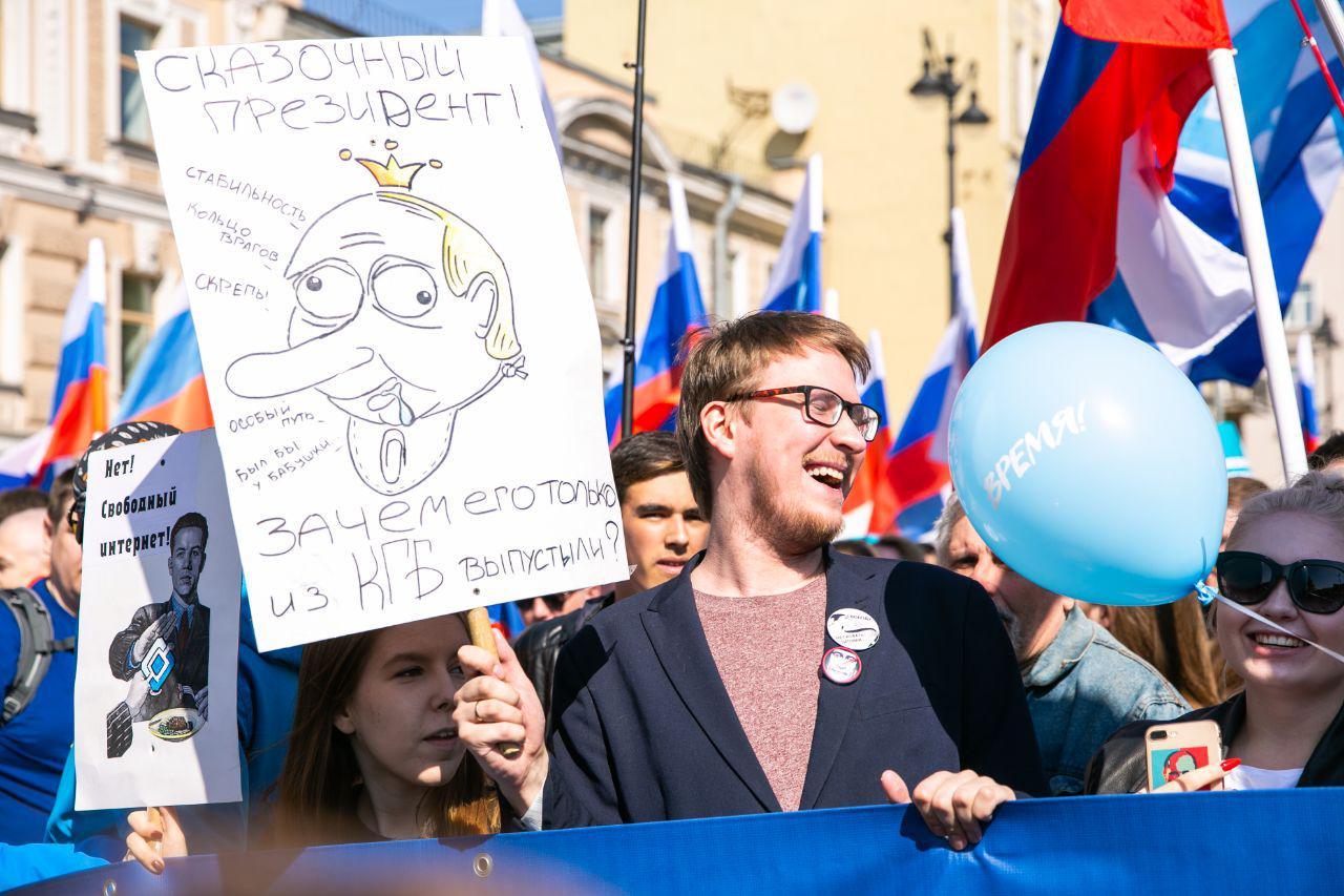 Участники демонстрации в Петербурге: «Администрация Беглова врет, задержания начались до остановки шествия»
